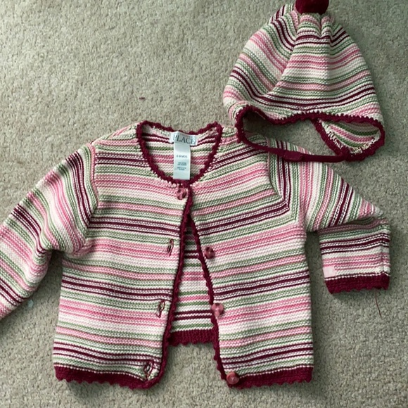 Striped matching baby set!!